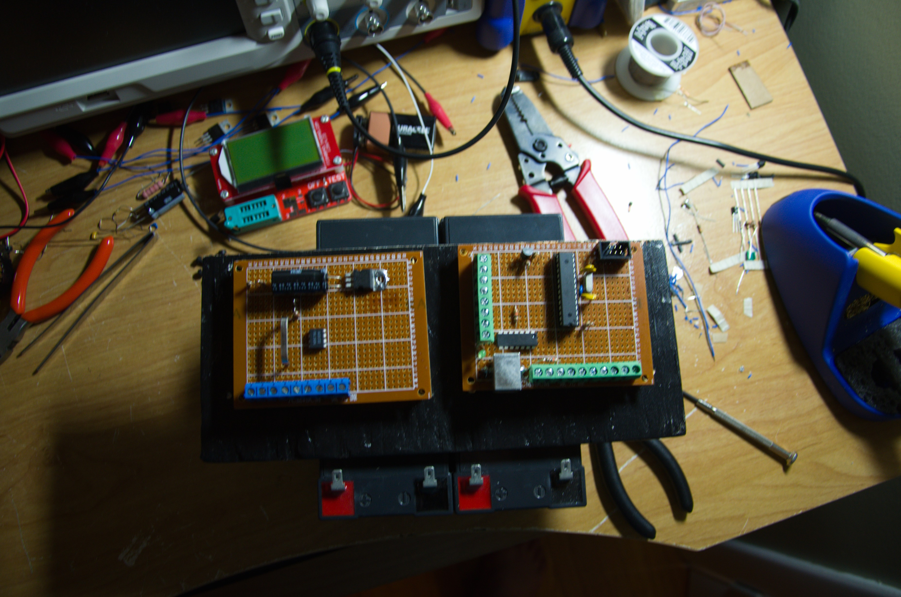 Show Your Prototype Board Page 1 On Off Latching Relay Circuit To Calibrate Voltage Shut Threshold Etc Theres A That Will The Whole System Down At Set Point Protect Battery