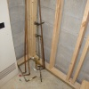 Old plumbing removed