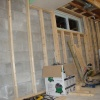 Framing on back wall done previously (pics taken later)