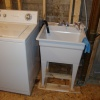 Dricore done in laundry room and new tub installed