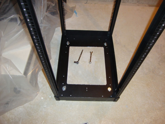 rack bolted down