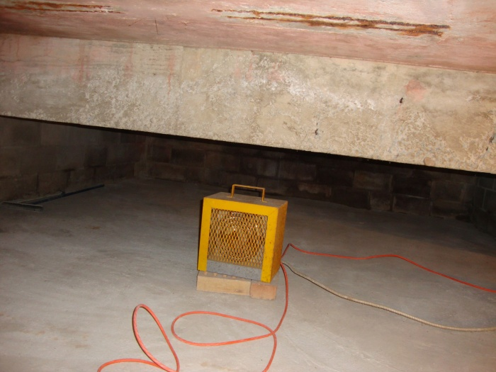 crawlspace heater