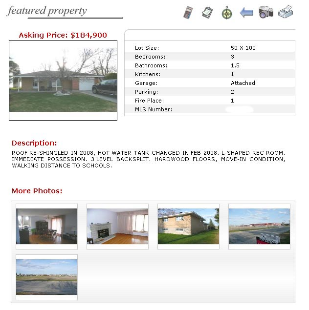 Listing of my house