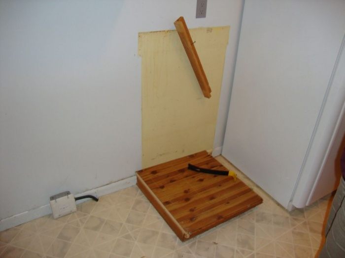 Cupboard removal