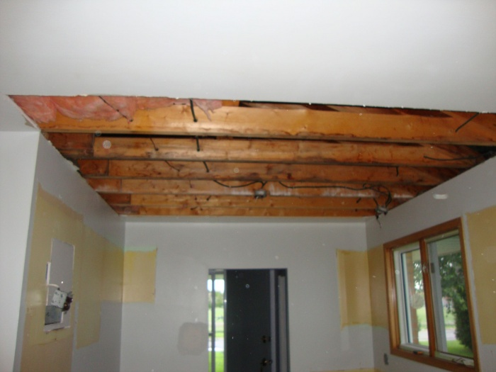 Removed insulation