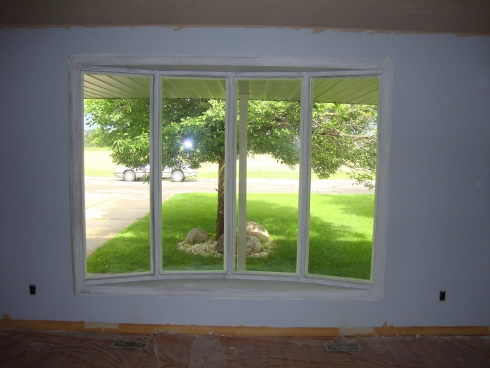 Painted trims in front window