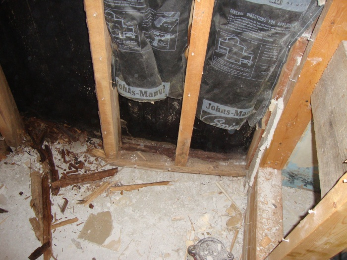 downstairs washroom/closet removal