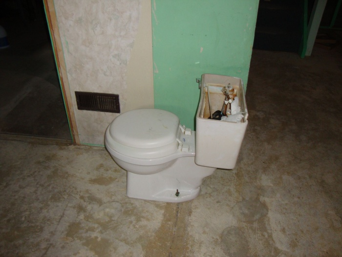 toilet removed