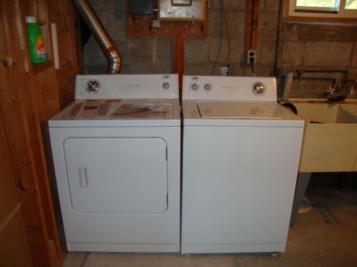 New dryer and washer installed