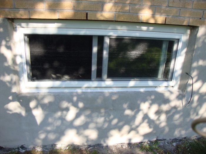 fixed cement around windows